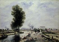 The Canal de l'Ourcq near Pantin von Johan-Barthold Jongkind