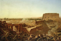 The Battle at the Temple of Karnak: The Egyptian Campaign  by Jean Charles Langlois
