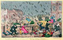 Very Unpleasant Weather by George Cruikshank
