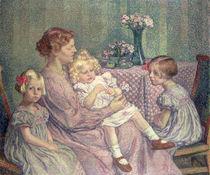 Madame van de Velde and her Children von Theo van Rysselberghe