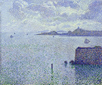 Sailing Boats in an Estuary von Theo van Rysselberghe