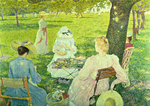 Family in the Orchard von Theo van Rysselberghe