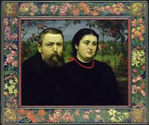 The Artist with his Wife Bonicella von Hans Thoma
