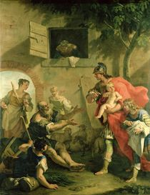 The Infant Cyrus with the Shepherd  by Sebastiano Ricci