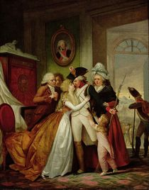 The Departure of the Volunteers  by Francois Louis Joseph Watteau