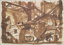 Drawing of an Imaginary Prison  by Giovanni Battista Piranesi