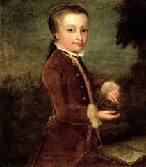 Portrait of Wolfgang Amadeus Mozart  by Johann Zoffany
