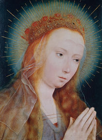 The Virgin at Prayer  by Quentin Massys or Metsys