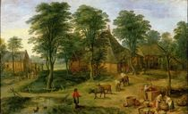 The Farmyard  by Jan Brueghel the Elder