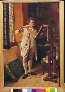 The Flute Player  by Jean-Louis Ernest Meissonier
