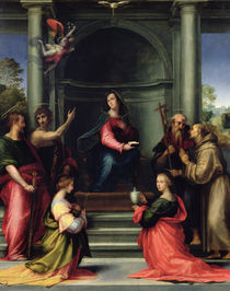 The Annunciation with Saints by Fra Bartolommeo