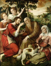 Tobias Curing his Father's Blindness by Jan Massys or Metsys