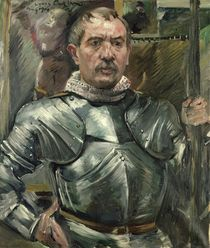 Self portrait in armour by Lovis Corinth