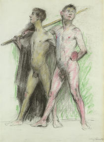 Study of two male figures  von Lovis Corinth