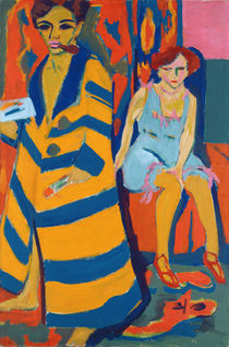 Self Portrait with a Model von Ernst Ludwig Kirchner