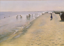 Summer Day at the South Beach of Skagen by Peder Severin Kroyer
