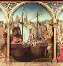 St. Ursula and her companions landing at Basel by Hans Memling