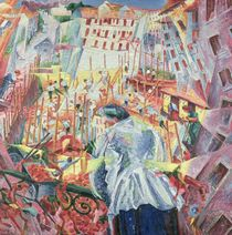 The Street Enters the House by Umberto Boccioni