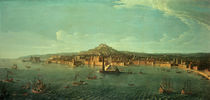 A View of Naples von Gaspar van Wittel