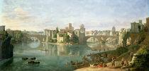 The Tiberian Island in Rome by Gaspar van Wittel