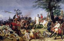 The Battle of Fontenoy von Emile Jean Horace Vernet