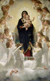 The Virgin with Angels von William-Adolphe Bouguereau