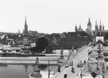 The old bridge over the River Main at Wurzburg von Jousset