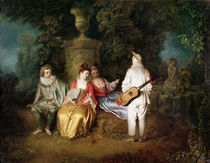 The Foursome by Jean Antoine Watteau