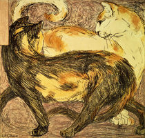 Two Cats  von Franz Marc