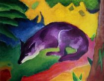 Blue Fox by Franz Marc