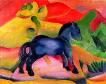 Little Blue Horse by Franz Marc