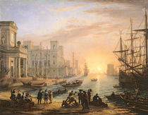 Sea Port at Sunset von Claude Lorrain