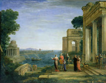 Aeneas and Dido in Carthage by Claude Lorrain
