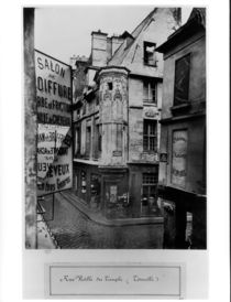 Rue Vieille-du-Temple by Charles Marville
