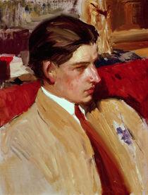 Self portrait in profile  by Joaquin Sorolla y Bastida