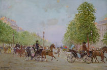 The Promenade on the Champs-Elysees  von Jean Beraud