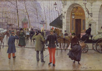 The Boulevard des Capucines and the Vaudeville Theatre by Jean Beraud