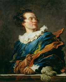 Figure of Fantasy: Portrait of the Abbot of Saint-Non  by Jean-Honore Fragonard