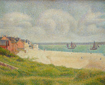 Le Crotoy looking Upstream by Georges Pierre Seurat