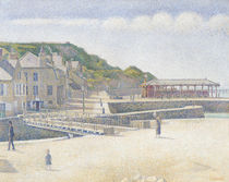 The Harbour and the Quays at Port-en-Bessin von Georges Pierre Seurat