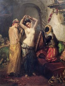 The Toilet in the Seraglio  by Theodore Chasseriau