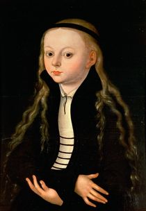 Portrait of a girl by Anonymous