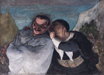 Crispin and Scapin by Honore Daumier