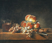 Still Life of Peaches by Jean-Baptiste Simeon Chardin