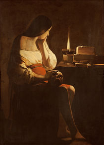 Mary Magdalene with a night light by Georges de la Tour