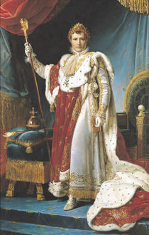 Napoleon I in his coronation robe by Baron Francois Pascal Simon Gerard