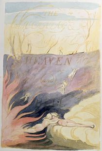 The Marriage of Heaven and Hell; title-page by William Blake