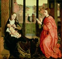 St. Luke Drawing a Portrait of the Virgin  von Rogier van der Weyden