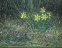 Narcissi and Violets by Jean-Francois Millet