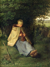 The Knitter or by Jean-Francois Millet